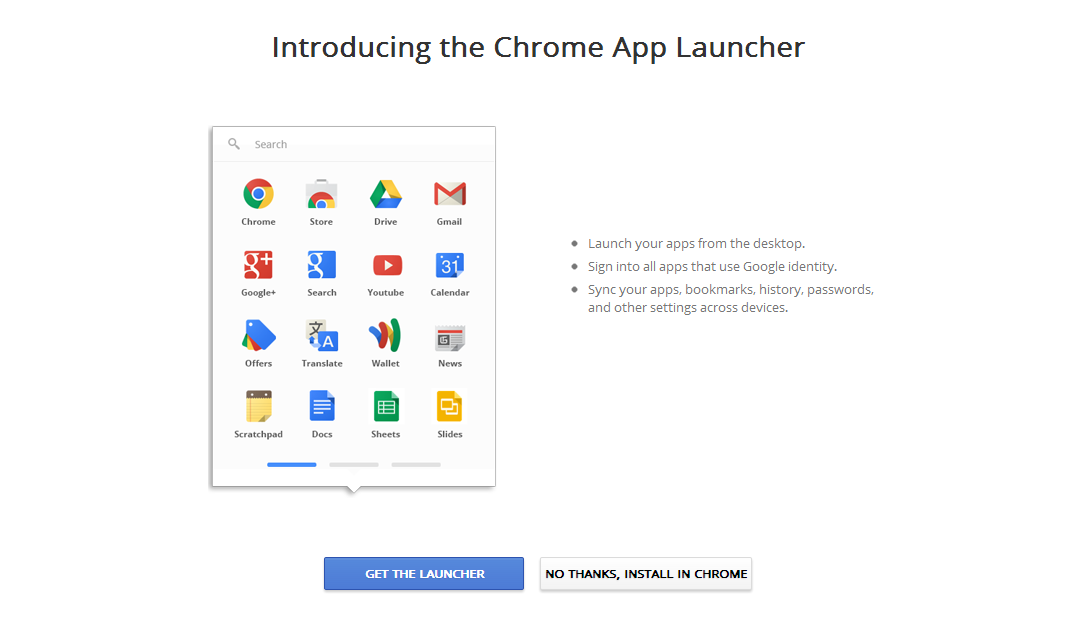 Chrome App Launcher 1