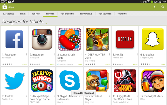 app store android tablet