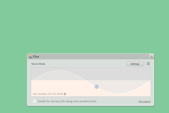 f.lux 3.91 screenshot