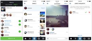 instagram direct screenshots