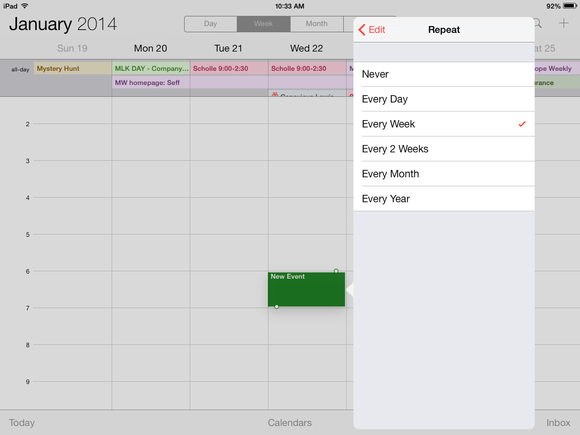 scheduling calendar ios