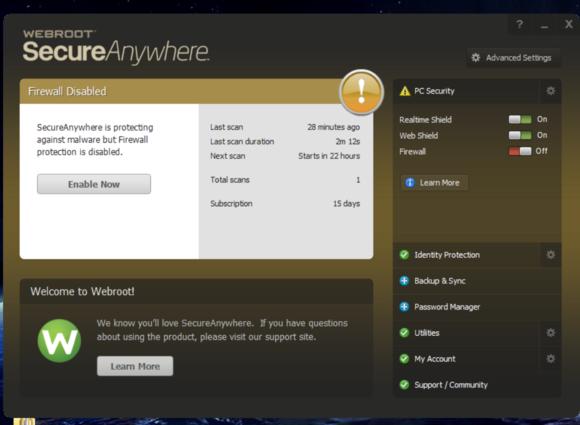 webroot concerned screen