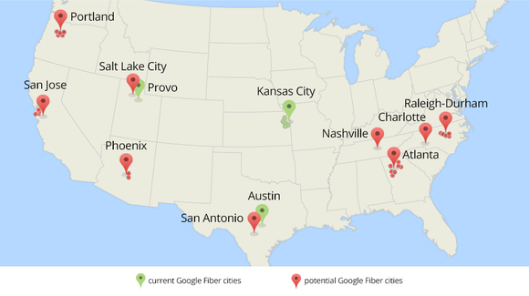 google fiber cities map