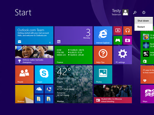 windows 81 update1 power button