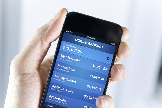 banking on smartphone