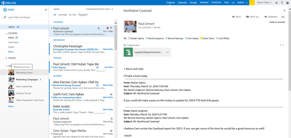 outlook web app group