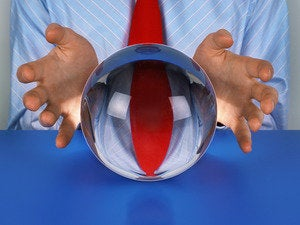 businessman crystal ball