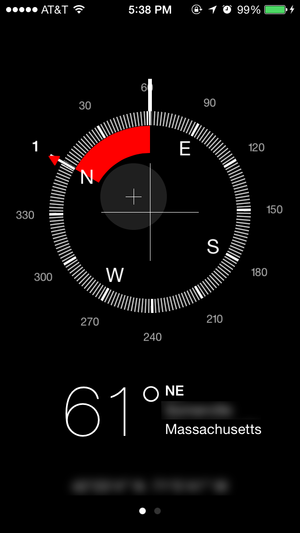 ios7 compass heading