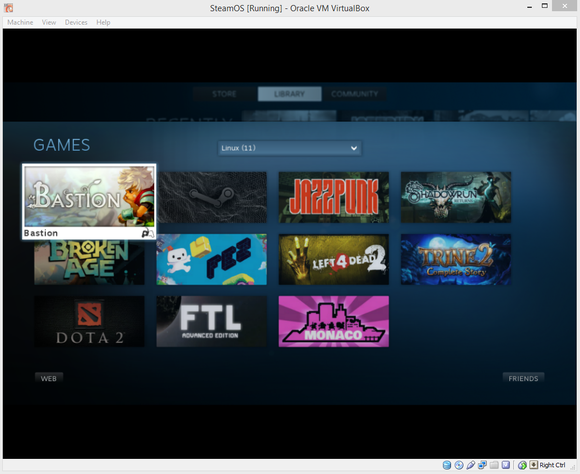 linux games steamos