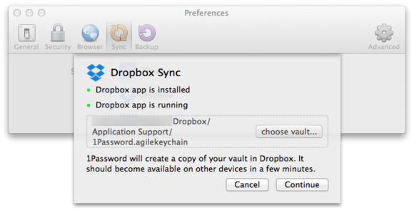 macbook cloud dropbox sync
