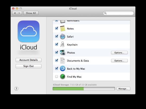 macbook cloud icloud