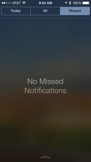 notifications missed