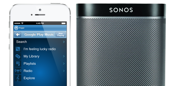 play music on sonos