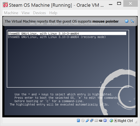 steam os recovery mode