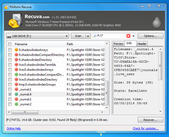 9 recover deleted files from usb flash drive with recuva