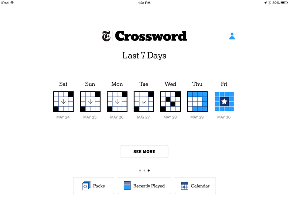 crossword calendar