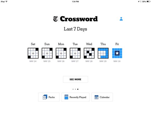 crossword calendar