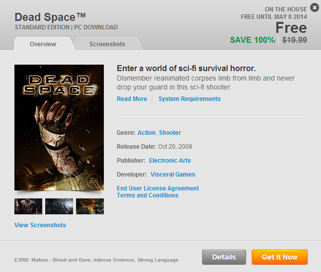 free dead space game