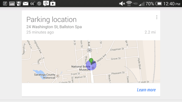 how to change work location on google now