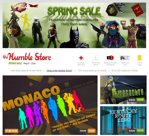 humble store spring sale