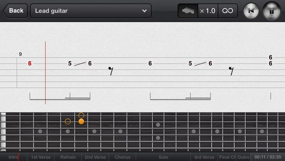 Guitar guitar tabs on screen : Staff Picks: Rock out with Ultimate Guitar Tabs | Macworld
