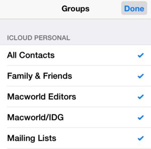 ios 8 mail wish groups