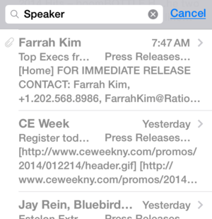 ios 8 mail wish search