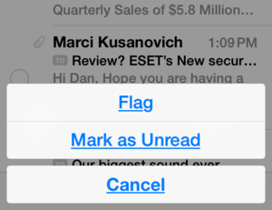 ios 8 mail wish select all