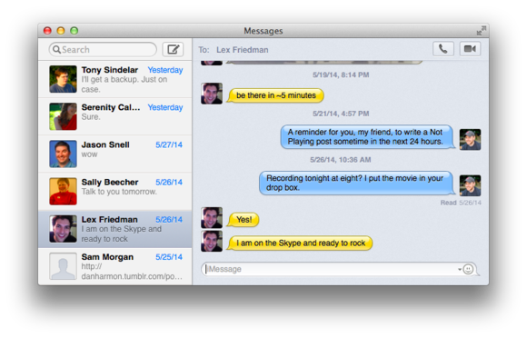 osx messages