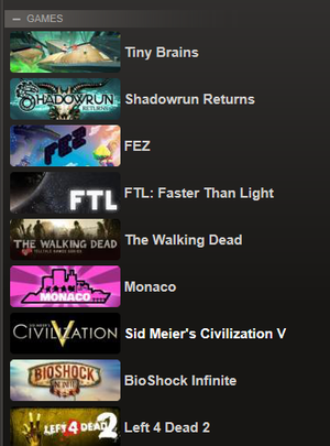 steam games library