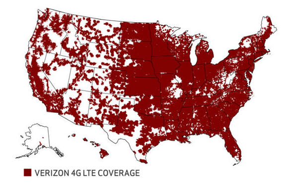 verizon 4g coverage