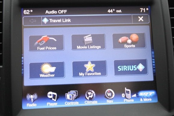 2014 chrysler 300 srt center display travel link main screen may 2014