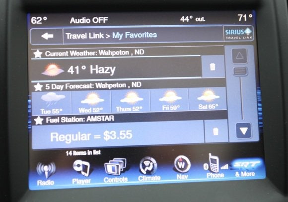 2014 chrysler 300 srt center display weather may 2014