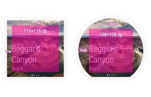 android wear ui design google