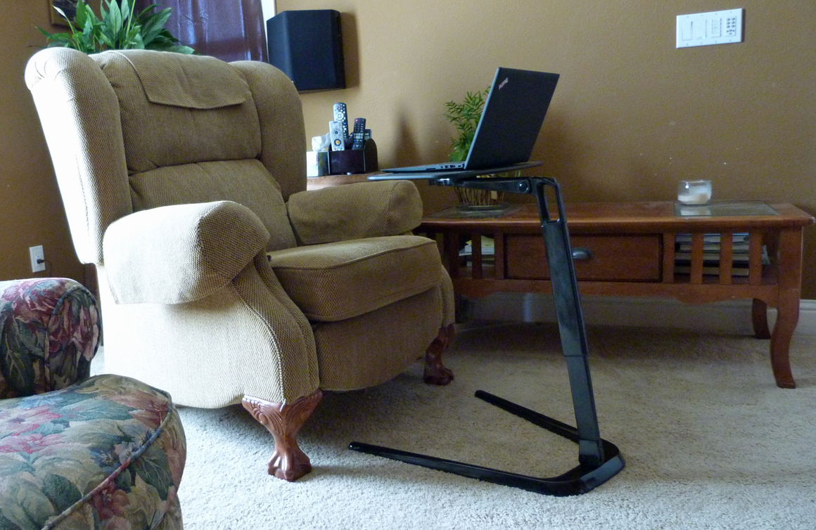 Coalesse Free Stand laptop stand makes it easy to work at home