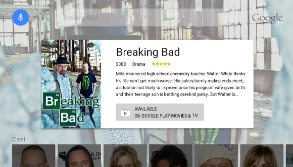 google io android tv breaking bad search result