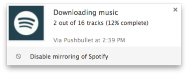 pushbullet spotify