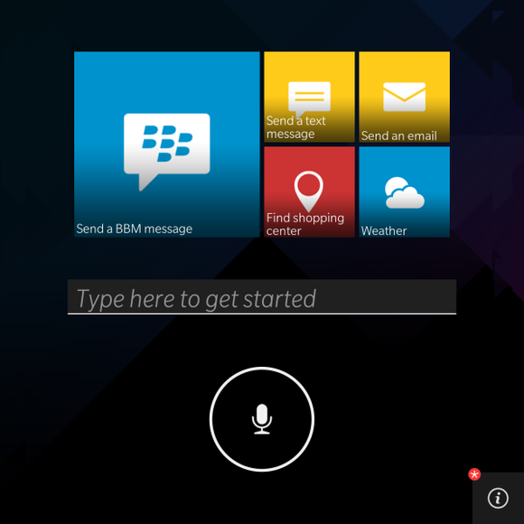 blackberry assistant home screen