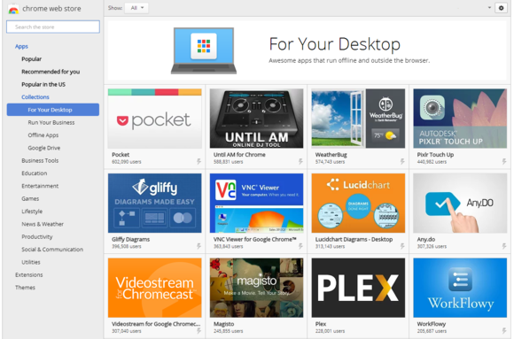 chrome web store for your desktop
