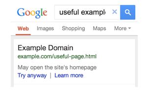 google faulty redirect warning