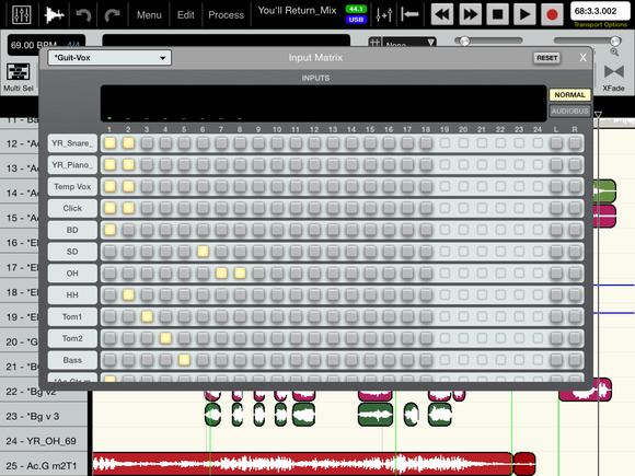 ipad portable recording studio fig 11 auria input matrix