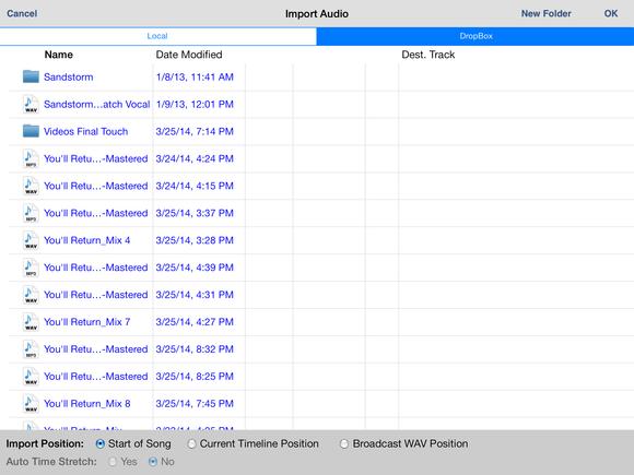 ipad portable recording studio fig 13 auria import page