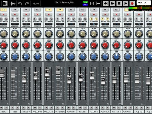 ipad portable recording studio fig 8 mix page auria