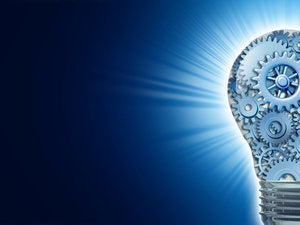 lightbulb idea gears