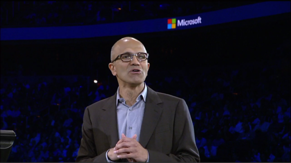 Microsoft's Nadella preaches productivity to partners