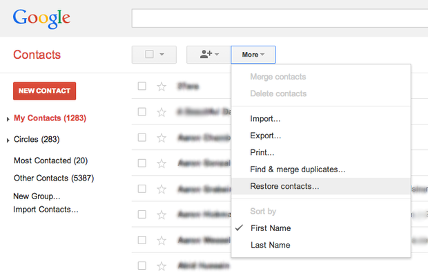 google contacts 1