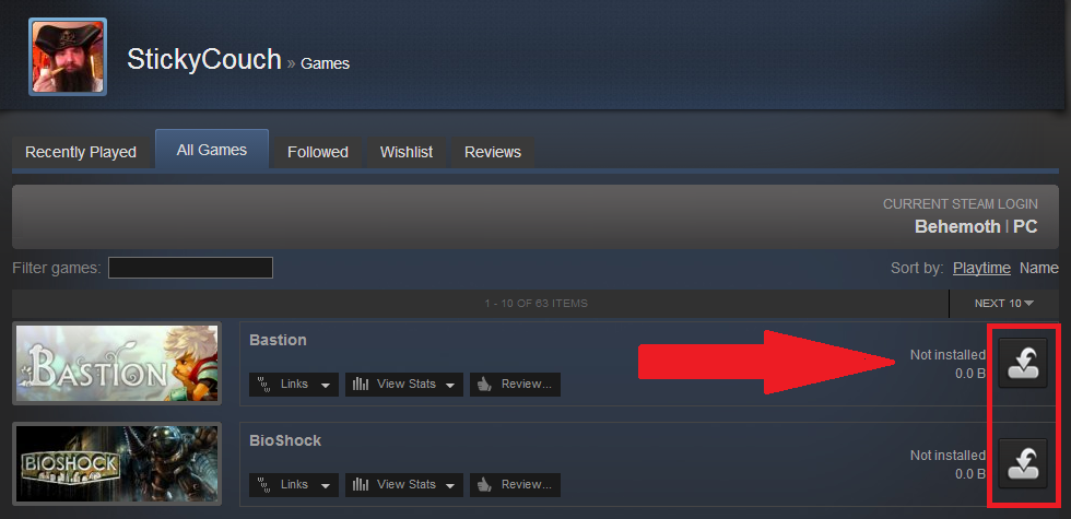 how to delete reinstal a steam game