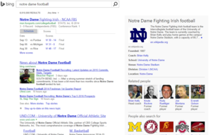 bing notre dame football