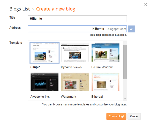 blogger new blog