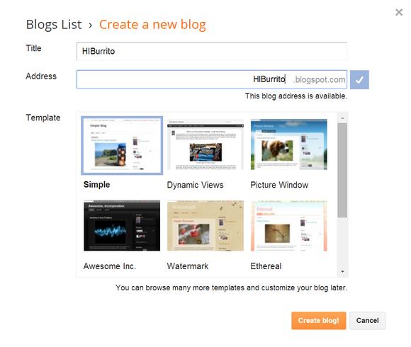 blogger new blog